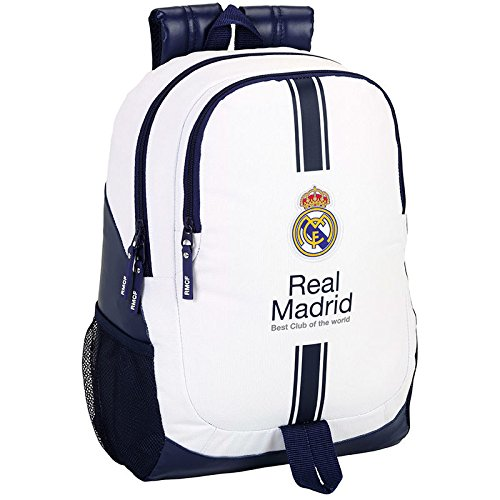 Safta  – Mochila real madrid (adaptable) 32 x 16 x 44 cm.