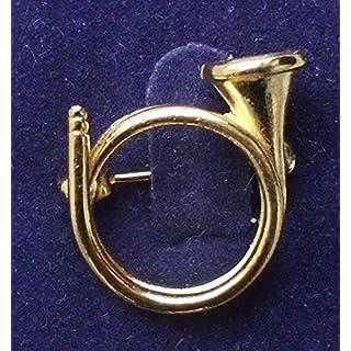 Amesbichler Brosche Horn vergoldet