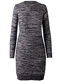 iLoveSIA Pull Long Robe Femme Col Rond Sweater Chaud Pull-over