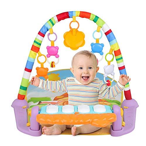 Olyee Patada And Play Piano Gimnasio, Bebé Alfombra Juegos con Actividad Juguetes para Bebé Recién...