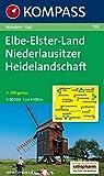 KOMPASS Wanderkarte Elbe-Elster-Land - Niederlausitzer Heidelandschaft: Wanderkarte mit Radrouten. GPS-genau. 1:50000: Wandelkaart 1:50 000 (KOMPASS-Wanderkarten, Band 759)