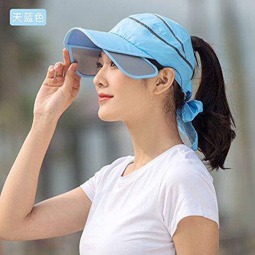 LLZTYM Le Chapeau De Soleil/Femelle/Été/Casquette De Baseball/Chapeau/Chapeau/Chapeau/Cadeau/Soleil/Coiffe De Chapeau D blue