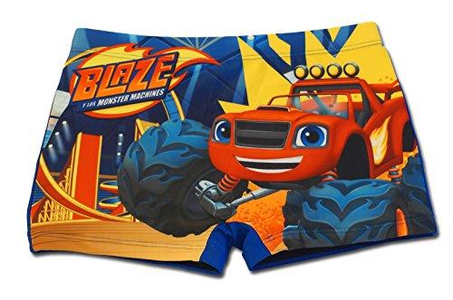 Blaze e le mega macchine - costume costumino boxer parigamba mare piscina - bambino - novità prodotto originale 8491eq [blu - 8 anni - 128 cm]