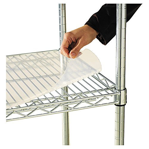 Shelf Liners For Wire Shelving, 36w x 18d, Clear Plastic, 4/Pack -