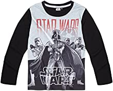 Star Wars-The Clone Wars Darth Vader Jedi Yoda Chicos Camiseta mangas largas 2016 Collection - Negro