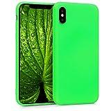 kwmobile Apple iPhone X Hülle - Handyhülle für Apple iPhone X - Handy Case in Neon Grün