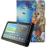 """Universal Funda Tablet 10.1"""", Carcasa de Cuero Protector Yuntab K107 10.1 pulgadas/ Artizlee ATL-21 Plus 10,1""""/Chuwi Hi10 10.1 pulgadas/iRULU eXpro 1Plus/X1s 10.1""""/Chuwi HiBook Pro 10,1 pulgadas/Teclast X10 Plus 10.1""""/Woxter SX 220 10.1""""/Excelvan K107 10""""/Tablet Alldaymall 10 pulgadas/Samsung/Lenovo/Asus/Alcatel de 10.1""""Tablet Case Cover Fundas de Pu Cuero-Pescado"""