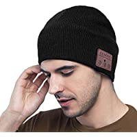 MEckily Cappello Bluetooth,Berretto Bluetooth 5.0 Musica Cappello, Cappello Sportivo da Esterno Campeggio Sci, Ultra Morbidi Lavabile Regalo Uomo,Elettronici Regali di Natale per uomo/donna
