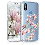 kwmobile Xiaomi Mi 6X / Mi A2 Hülle - Handyhülle für Xiaomi Mi 6X / Mi A2 - Handy Case in Rosa Weiß Transparent