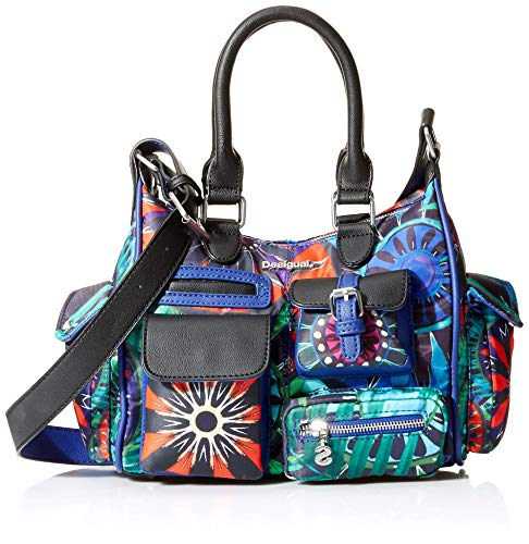 Desigual Damen Bols_indian Galactic London Mini Henkeltasche, Blau (Azul Lovely) 13x21x26.5 cm