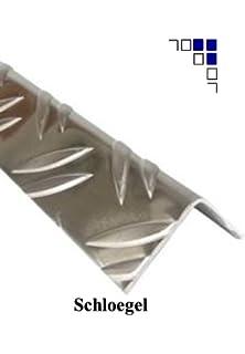 Aluminium Warzenblech Duett Winkel Riffelblech Aluwinkel Kantenschutz 1,5//2mm 50x50x1,5mm 1500mm