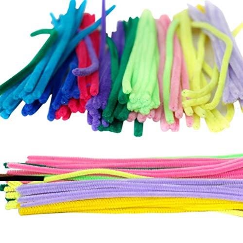 rainbowhh Künstliche Blumen Bunte Plüsch Eisendraht Beflockung Handgemachte DIY Handwerk Chenille Stick Pfeifenreiniger Kinder Spielzeug 100/50 stücke 30 cm DIY50 stücke