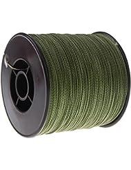 TOOGOO(R)300M 100LB 0.55mm Sedal linea de pesca Fuerte PE 4 filamentos trenzados -Verde