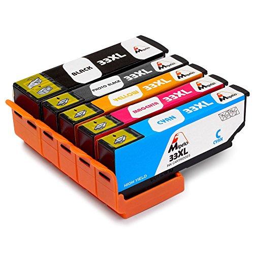 mipelo-5-pack-compatibili-epson-33xl-cartuccia-dinchiostro-per-epson-expression-premium-xp-530-xp-63