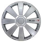 Petex RB534115 Radzierblende RS-T Größe 15 Zoll 2-fach lackiert Material: ABS in Box, silber - 4-er Set
