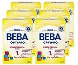Nestlé BEBA Optipro Kindermilch, ab dem 1. Geburtstag, 6er Pack (6 x 600 g), Pulver, in der wiederverschließbaren Faltschachtel (2 x 300 g Beutel),