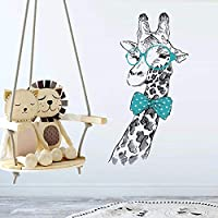 Giraffe Wall Sticker Creative Wall Decal for Kids Room Living Room Removable Art Wall Paper Colorful