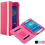 Cooper Cases(TM) Schoolmate Samsung Galaxy Tab 3 8.0 Portfolio in Pink (Integriertes Halteband, integrierter Tabletständer, Kartenfächer)