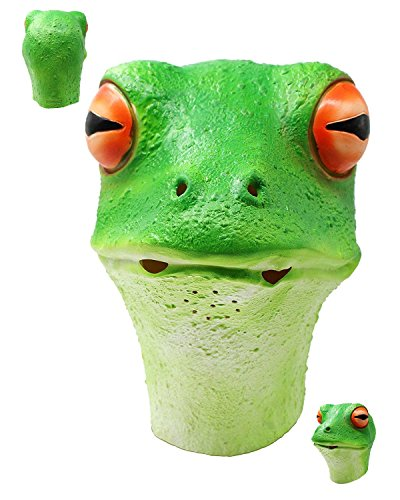 Kröte Frosch Kostüm Und - Gummi ein, die Frosch Johnnies, Erwachsene, eine Größe, grün, Fancy Kleid Masken