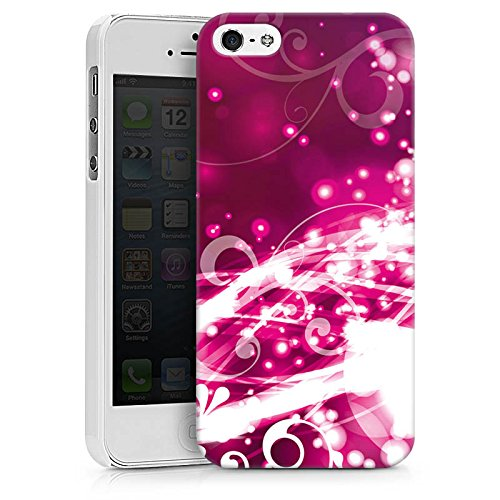 Apple iPhone X Silikon Hülle Case Schutzhülle Abstrakt Glitzer Pink Hard Case weiß