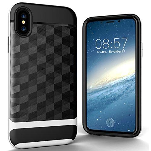Wkae 3D Diamond PC + TPU Kombination Schutzhülle für iPhone X ( Color : Black ) Black