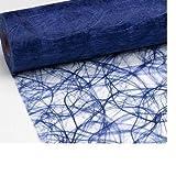 25 M x 20 cm ® hKT home deco sizoweb chemin de table en non-tissé pour chemin de table bleu foncé pour mariage, noël, 0,86 (€/ m).