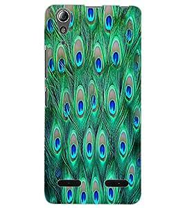 ColourCraft Peacock Feathers Design Back Case Cover for LENOVO A6000