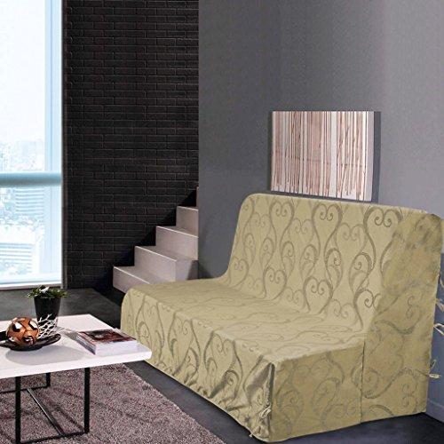 Best Interior Housse de clic clac Amour - Taupe - Dimensions : 200x200cm