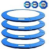 Happyjoy Coussin de protection pour trampoline rond de Ø 245cm 8FT, Ø 305cm 10FT 6barres, Ø 305cm 8barres, Ø 366cm 12FT, Ø 396cm 13FT, Ø 430cm 14FT destiné au remplacement-- Sans Filet de protection , Coussin de Ressorts seulement