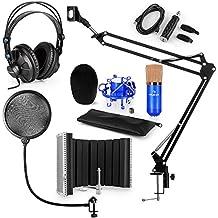 auna CM001BG V5 • Set Microfono XLR USB Blu Oro • A Condensatore • 08210083097c