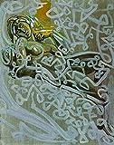 JH Lacrocon La Figure Après L'Aube De Michelangelo sur La Tombe De Di Lorenzo Médicis de Salvador Dali - 95X120 cm Peintures Abstrait à Main Tableau Reproduction sur Toile Roulée Décoration Murale