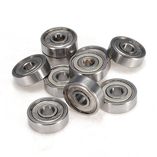 Preisvergleich Produktbild Tutoy 10Pcs 7X22X7mm Geschirmtes Miniatur-Metall Versiegeltes Kugellager 627-Zz