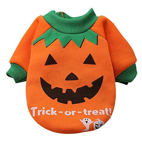 sunnymi Mode Niedliche Kleine Haustier Halloween Kostüm Sweatshirts Schöne Hund Katze Welpen Kleidung für Walking Jogging (L, ()