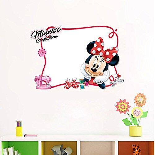 (Smart Art Disney Mickey Mouse Whiteboard Aufkleber Disney Karikatur Wandsticker Klasse PVC Kindergarten Wandtattoos Wanddekorationen zum Weihnachten)
