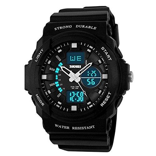 Gosasa Multi Function Military S-shock Sports Watch LED Analog Digital Waterproof Alarm (Green)