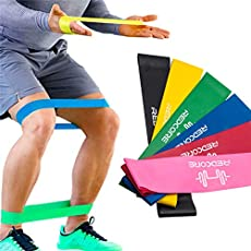 PROSPO Resistance Loop Bands for Workout and Stretching Exercises (Assorted Colours) - Pack of 3