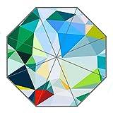 Kundenspezifischer faltbarer Umbrella Diy personifizierter Multicolor Abstrakt Geometrisch Entwurfs-beweglicher Reise-Regenschirm f¨¹r Sonne und Regen