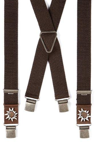 Trachten Hosenträger - ALPIN - braun, Größe 130 cm
