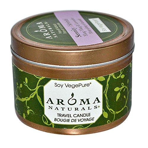 Lavendel Kerze Zinn (Soy VegePure, Reise Kerze, Serenity, Ylang Ylang und Lavendel - Aroma Naturals)