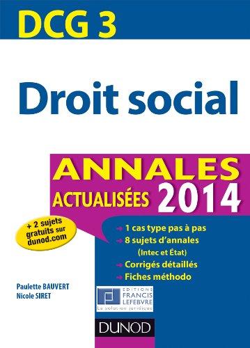 DCG 3 - Droit social 2014 - 5e édition ...
