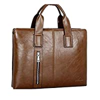 Men's business bag/Briefcase/bag/handbag/shoulder bag/Crossbody/suede leather M7899 Brown