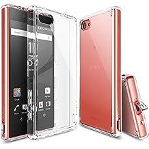 Ringke Fusion - Funda para Sony Xperia Z5 Compact, choque absorción, parachoques y protección gota, transparente