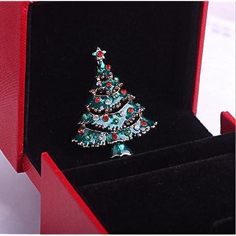 MaMaison007 Europa comercio joyas regalos árbol de Navidad broche Pin Navidad regalo Linda personalidad es necesario