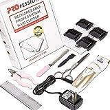 Oneisall Profi Schermaschine mit Zubehör Wiederaufladbare Tierhaarschneider Haustiere Elektrische Haarschneidemaschine für Hunde, Katze - 7