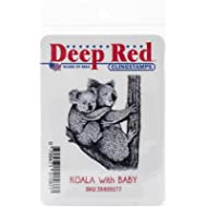 Deep Red Stamps aderente in 2 cm x 2 cm/Baby, Koala