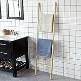 SoBuy® FRG187-N Freistehende Handtuchleiter Handtuchständer Handtuchhalter Badregal mit Handtuschstangen BHca: 42x160cm