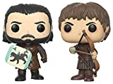 Funko Pop! TV Il trono di spade (Game of Thrones) - Battaglia dei bastardi - Jon Snow & Ramsay Bolton Figura del vinile