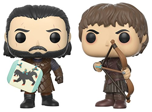 Funko Pop! TV: Game of Thrones: Bataille des bâtards - Jon Snow & Ramsay Bolton Figurine