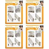 200pk Safety Pins by Keep it Handy | 4 x 50pk Assorted Size