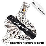 """Riesel Design Parafango/paraspruzzi in plastica PE, per la ruota anteriore della bicicletta, XC, MTB, Marathon, Free Ride, DH, 26"""", 27,5"""", 29"""", MountainBike HEROS"""